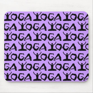 Yoga Silhouettes Tiled Mouse Mat