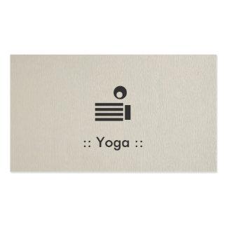 Yoga Simple Elegant Professional Pack Of Standard Business Cards