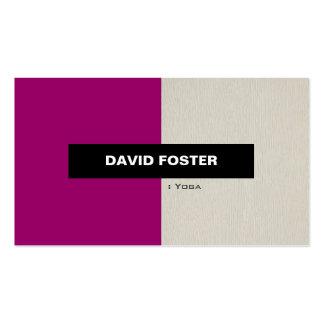 Yoga - Simple Elegant Stylish Business Card Templates