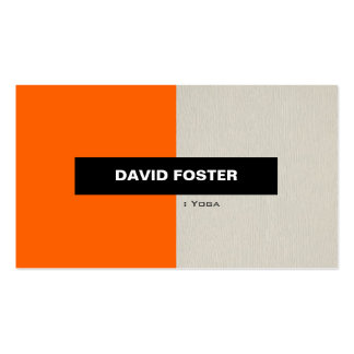 Yoga - Simple Elegant Stylish Pack Of Standard Business Cards