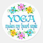 Yoga Smiles Round Sticker