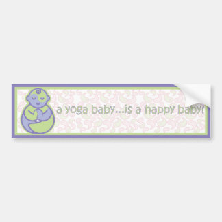 Yoga Speak Baby : Happy Baby Sticker - Purple Bumper Sticker