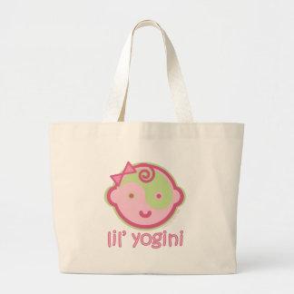 Yoga Speak Baby : Lil' Yogini Graphic Jumbo Tote Bag