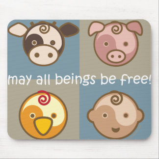 Yoga Speak Baby May All Beings Be Free Mouse Pads