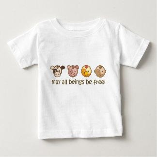 Yoga Speak Baby : May All Beings Be Free Tee