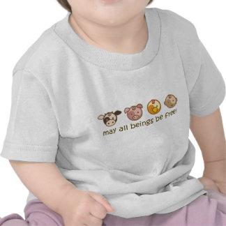 Yoga Speak Baby May All Beings Be Free Tee