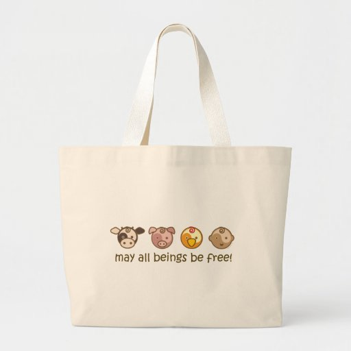 Yoga Speak Baby : May All Beings Be Free Tote Canvas Bag