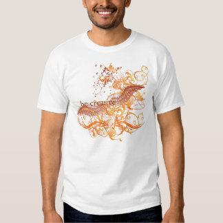 "Yoga Speak : ""Be Creative"" Orange Chakra Tee Shirt"