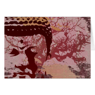 Yoga Speak : Buddha Tree Graphic Card