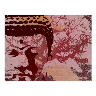 Yoga Speak : Buddha Tree Graphic Postcard