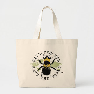 Yoga Speak : Save the Bee...Bag Jumbo Tote Bag