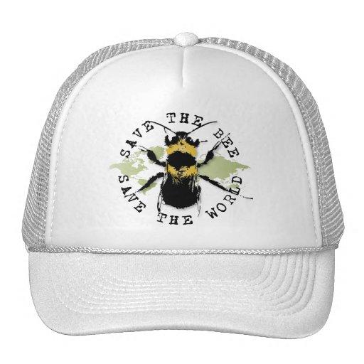 Yoga Speak : Save the Bee...Baseball Cap Trucker Hats