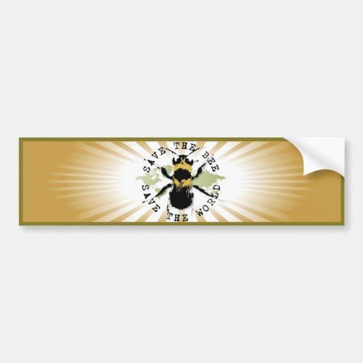 Yoga Speak : Save the Bee....Bumper Sticker