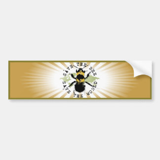 Yoga Speak : Save the Bee....Bumper Sticker Bumper Sticker