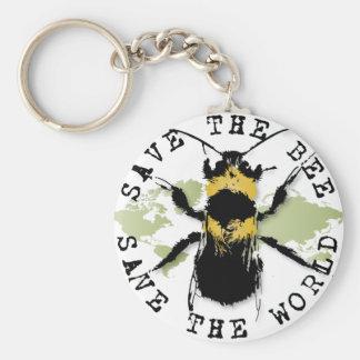 Yoga Speak : Save the Bee...Keychain Key Ring