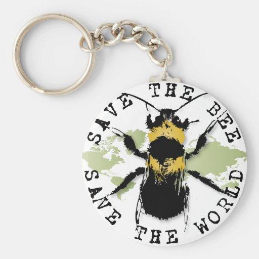 Yoga Speak : Save the Bee...Keychain