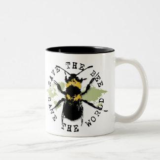 Yoga Speak : Save The Bee...Mug Two-Tone Mug