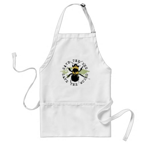 Yoga Speak : Save The Bee ... Save The World! Apron