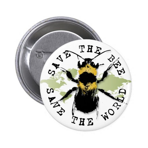 Yoga Speak : Save the Bee ... Save the World! Pinback Buttons