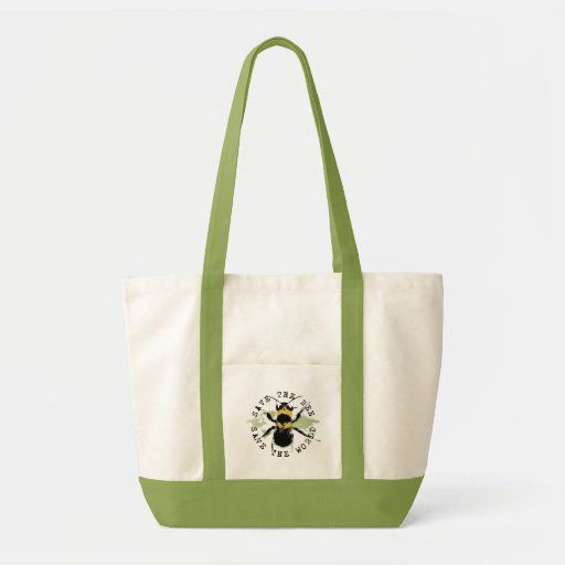 Yoga Speak : Save The Bee ... Save The World! Tote Bags