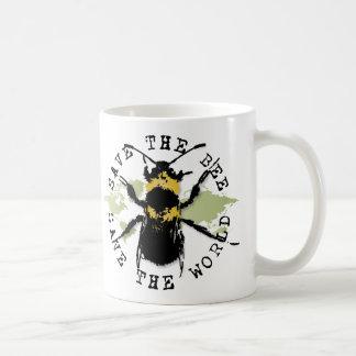 Yoga Speak : Save The Bee ... Save The World! Basic White Mug