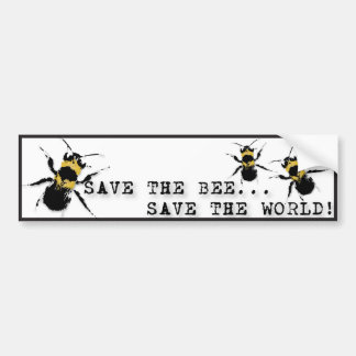 Yoga Speak : Save the Bee ... Save the World! Bumper Sticker
