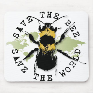 Yoga Speak : Save The Bee ... Save The World! Mouse Pad