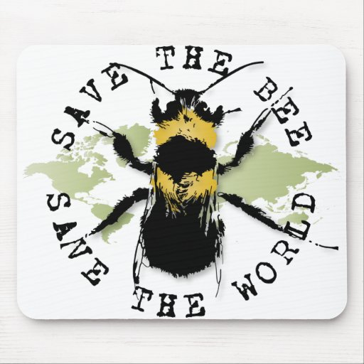 Yoga Speak : Save The Bee ... Save The World! Mouse Mat
