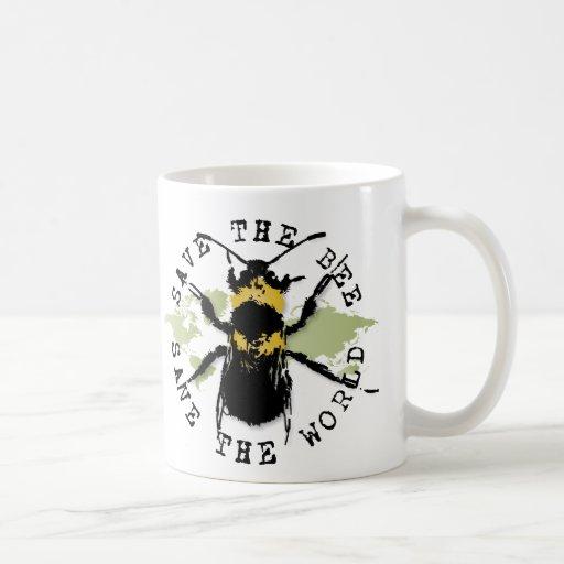 Yoga Speak : Save The Bee ... Save The World! Coffee Mug