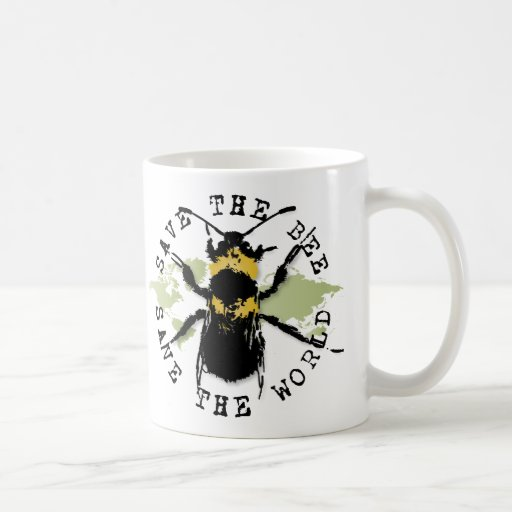 Yoga Speak : Save The Bee ... Save The World! Mugs