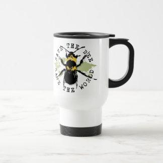 Yoga Speak : Save The Bee ... Save The World! Stainless Steel Travel Mug