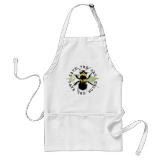 Yoga Speak : Save The Bee ... Save The World! Standard Apron