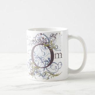 Yoga Speak : Swirling Om Design Basic White Mug