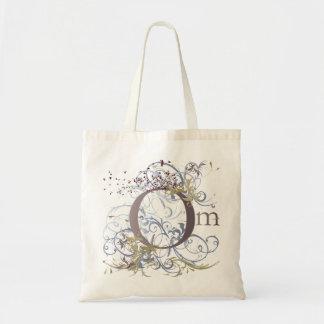 Yoga Speak : Swirling Om Design Budget Tote Bag