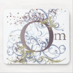 Yoga Speak : Swirling Om Design Mouse Pad