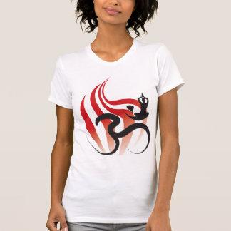 Yoga Spiritual Flame Om Ohm Calligraphy Zen Tshirt