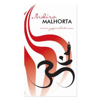 Yoga Spiritual Flame Om Ohm Logo Calligraphy Zen Business Card Template