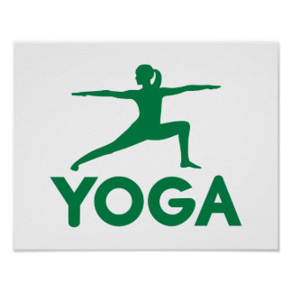 Yoga sports woman poster
