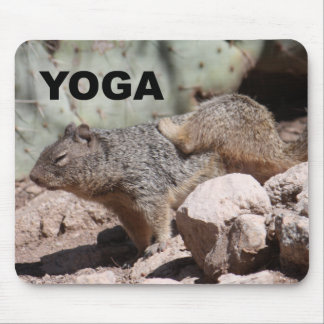 Yoga Squirrel Mousepad