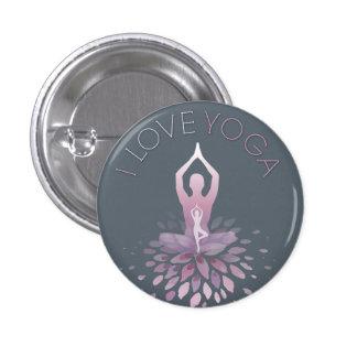 yoga statement 3 cm round badge