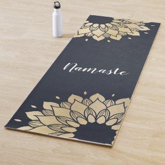 Yoga Studio Meditation Instructor Gold Mandala Yoga Mat