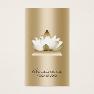 Yoga Studio Modern Gold Lotus Elegant Business Card