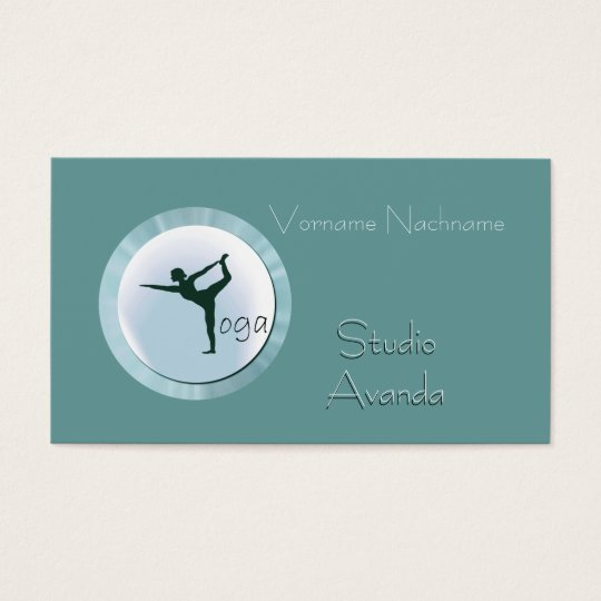Yoga Studio Teacher Business Card