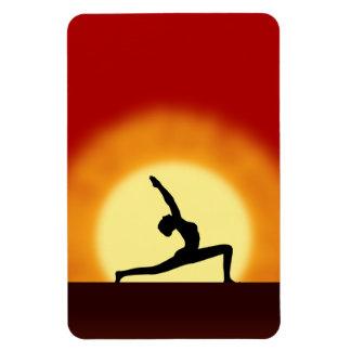 Yoga Sunrise Pose Shilhouette Large Flexi Magnets