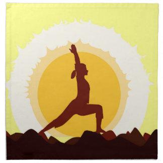 Yoga Sunset Printed Napkins