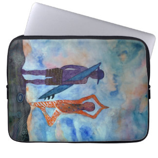 Yoga Surf Watercolor Neoprene Laptop Sleeve 13""