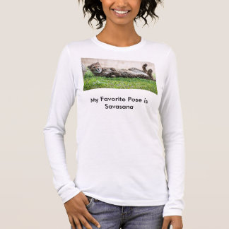 Yoga T-Shirt , Cheetah in Savasana pose