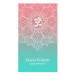 Yoga Teacher Elegant Lotus Mandala Namaste Om Sign Pack Of Standard Business Cards