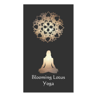 Yoga Teacher Meditation Pose Gold Lotus Pack Of Standard Business Cards