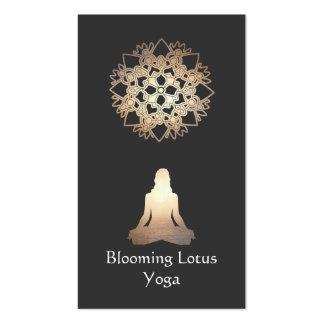 Yoga Teacher Meditation Pose Gold Lotus Pack Of Standard Business Cards